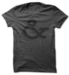 And an ampersand t-shirt? Love. | Image of Ampersand | unrefinery