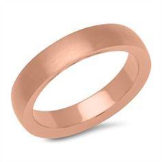 Rosé vergoldeter Ring aus Edelstahl 4,9 mm breit R9237