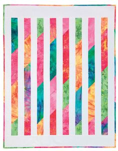 Fresh, modern, and easy! Batiks are lovely in this design. From Easy Quilts for Beginners and Beyond.