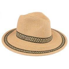 Paper Straw Panama Hat with Zigzag Pattern (ST-312)