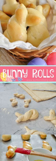These homemade Easter bunny rolls are adorable! Easy and inexpensive to make this Easter Sunday.