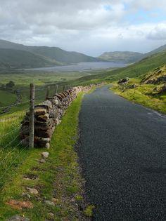 Scenic road in Connemara, Ireland.