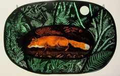 Yesterday afternoon brought the opportunity of hearing a talk at the Creative Glass Guild by one of my favourite artists, Tamsin Abb. Glass Wall Art, Glass Art Pictures, Glass Painting, Stained Glass Paint, Glass Design, Art, Fused Glass, Fox Art