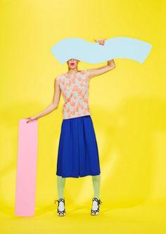 Mod pop art fashion for Foam Magazine's Jan/Feb issue