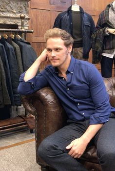 NEW Media/Fan Pics of Sam Heughan at his Barbour Collection Launch | Outlander Online