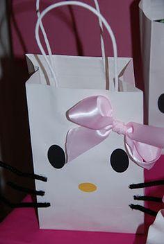 Hello Kitty Birthday Party ~ DIY treat bags