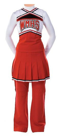 Iconic u0027Cheeriosu0027 cheerleading uniform with long sleeve white undershirt and red sweatpants worn by  sc 1 st  Pinterest & CHEERLEADER Costume Sewing Pattern - Cheerleading Majorette Uniform ...