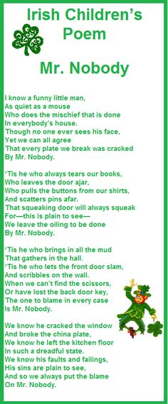 Learn about the origin and history of 18 Merry St. Patrick's Day Poems, or browse through a wide array of 18 Merry St. Patrick's Day Poems-themed crafts, decorations, recipes and more!