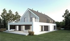 Wizualizacja NA FX-26 CE Bel Air, Gable Roof, Roof Architecture, House Roof, Argos, Home Fashion, Planer, House Plans, Shed