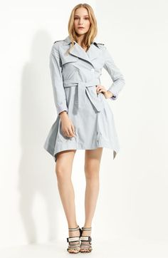 Boy. by Band of Outsiders - Cutaway Hem Belted Trench Coat