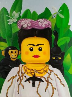 Artist Stefano Bolcato creates LEGO art inspired by the world famous paintings of Andy Warhol, Frida Kahlo, Leonardo da Vinci, and more.