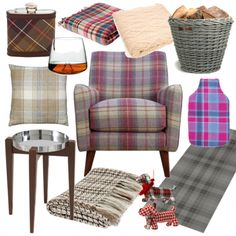 Make yourself comfortable with cosy throws, tartan accessories and a roaring fire, and drink a toast to Scotland's poet - cheers!