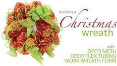 Deco Mesh Wreath by beautiful wedding dress