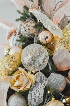 gold-and-silver-and-blush-christmas-ornaments-color-scheme