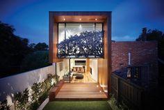 Arquitetura do Imóvel : Em Melbourne na Austrália: casa em terreno estreito com…