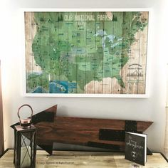 National Parks Map Push Pin Map USA Parks Hiking Map Gift For - Map of all national parks us and canada