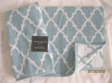 Cynthia Rowley White Amp Gray Quatrefoil 3pc Towel Set 1 Ea