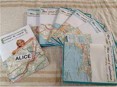Voici les premiers carnets d'explorateurs que j'ai préparés cette semaine . J'ai trouvé les cartes chez Emmaüs pour 0,50 d'euros. Je compte prendre la photo de chaque enfant lors des premiers jours...s'ils ne pleurent pas! . C'est pas gagné! J'ai aussi... Photo Voyage, Les Continents, Voici, Books, Travel, Sea Theme, Libros, Viajes, Book