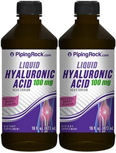 Hyaluronic Acid Liquid 100 mg 2 Bottles x 16 fl oz Natural Berry Flavor Health And Beauty, Health And Wellness, Nutritional Supplements, Hyaluronic Acid, Berry, Bottles, Vitamins, The 100, Vegetarian