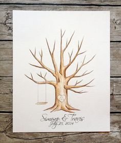 Each tree is drawn and painted by hand after ordering and is original!    This beautiful hand painted original is designed to replace the traditional