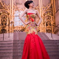 384b23bf9ce Gay chinese style formal dress married cheongsam chinese style wedding dress  red european version of the