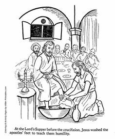 Easter Bible Coloring page - Pilate washing his hands ...