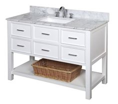 New Hampshire 48-inch Vanity (Carrara/White) – KitchenBathCollection