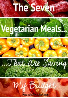 Going vegetarian isn't just good for your overall health - it's good for your wallet, too!  Click here to find out how vegetables might be able to get your budget back on track!  http://thecodetoriches.com/vegetarian-recipes-saving-budget/