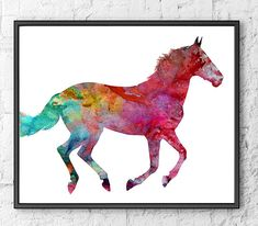 Watercolor Horse Art Print, Watercolor Animal Art, Painting Print Wall Art, Illustration Art  *BUY TWO GET ONE FREE! * Special offer! Buy two prints