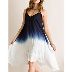 ANASTASIA dip dye Ombré dress - NAVY Super cute ombre flare shark bite dress.  V-neckline. Fully lined. Non-sheer. Woven. Lightweight.  100%RAYON.  AVAILABLE IN BERRY AND NAVY.  NO TRADE, PRICE FIRM. Bellanblue Dresses