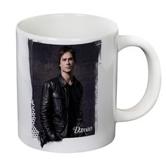 This giant 20 ounce Vampire Diaries features Damon Salvatore. This white ceramic mug holds 20 ounces of your favorite hot…