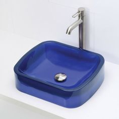 DECOLAV's Incandescence 2802-DEP Rectangular Above-Counter Resin Lavatory offers a unique rectangular eye-catching shape featuring a gently sloped basin and wide rim. Available in seven brilliant colors.