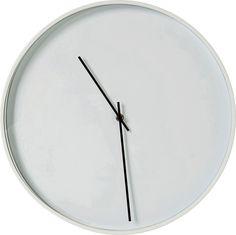 Nástěnné hodiny Timeless White O40cm
