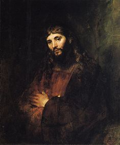 Christ with Folded Arms c. Rembrandt Harmenszoon van Rijn, Dutch, oil on canvas, 43 in x (The Hyde Collection) Rembrandt Portrait, Rembrandt Paintings, Portrait Paintings, Caravaggio, Francisco Goya, Dutch Golden Age, Dutch Painters, Dutch Artists, Old Master