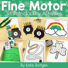 Celebrate St. Patrick's Day with your preschoole, kindergarten, or homeschool students with these 10 St. Patrick's Day fine motor skills activities. The activities can be used multiple ways, but they help develop fine motor skills of prek or kinder students. These low-prep activities may require some prep work like laminating, and they are perfect for small groups, morning tubs, centers, or any time you want your students to practice their skills this spring. #StPatricksDay #FineMotor #PreK