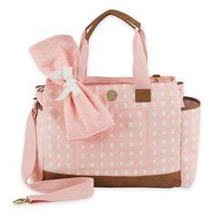 Mud Pie Bigger Bundle Rosebud Diaper Bag in Pink - BedBathandBeyond.com
