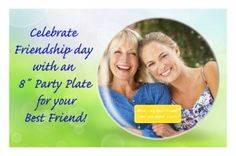 """Celebrate Friendship Day & your best friend by surprising them with a 8"""" photo plate with a picture of the two of you!"""