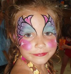 face painting - cute girly face