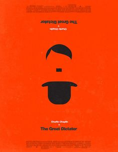 "Love this! I'm making a minimal movie poster for this movie right now, too! //  ""the great dictator"""