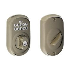 Schlage BE365 PLY 620 Plymouth Keypad Deadbolt, Antique Pewter by Schlage Lock Company. $111.16. Amazon.com                   Experience the Freedom of Keyless Convenience  No more hiding keys under the doormat. No more losing, forgetting, or making extra keys time and time again. Step up to a more secure and flexible solution with a Schlage Residential Keypad Deadbolt. Install a new keypad deadbolt yourself--with nothing more than a screwdriver. You're free to add, cha...