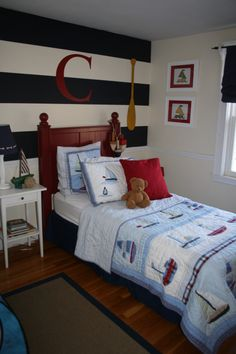 Sea side - pottery barn/hgtv rate my space http://www.roomzaar.com/rate-my-space/Boys-Rooms/Conners-Nautical-Boys-Room/detail.esi?oid=6589100