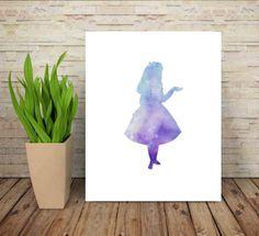 alice in wonderland wall art digital print download water