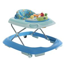 The Chicco Band Baby Walker is a height adjustable walker with an electronic play panel with lots of activities, coloured lights and fun music to entertain your little one.