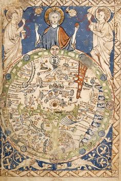 Psalter World Map commissioned by Henry III in the 1230s