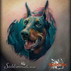 #dog #tattoo #tattooart #tattooink #tattoocircle #tattoolifemagazine #inked #inked #quantumtattooinks #proteam #inkmachines #art #doberman #inkfreakz #inkedmag #inkjunkeys #artcollective #artwork #portugal #aveiro @quantumtattooinks @sublimevilla