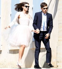 Keira Knightley Wedding. I love that she wore a dress she already owned. Chanel = no need for a new one