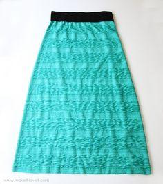 Skirt with Elastic Waist Band