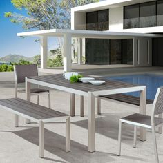 Merveilleux From Our Contemporary Outdoor Furniture Collection, The Melun Outdoor Dining  Bench Says It All.