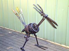 LOTS of ideas for metal art!! Metalbolicals : Metal Garden Art Statues & Sculptures CONTACT: info@metalbolicals.com