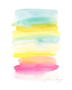 Summer Crush - Watercolor Art Print